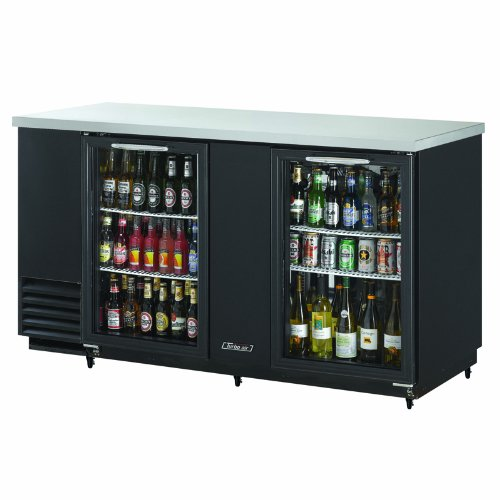 (Turbo Air TBB-3SG Refrigerated Back Bar and Counter Top, Glass Doors)