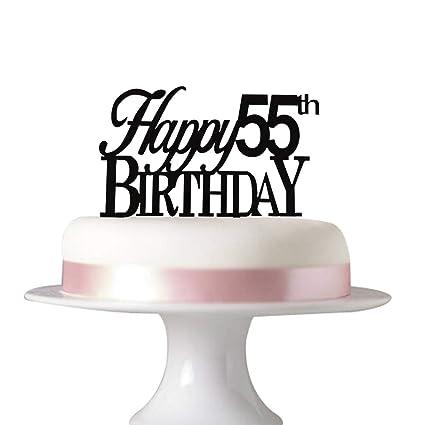 Amazon Happy 55th Birthday Cake Tooper Party
