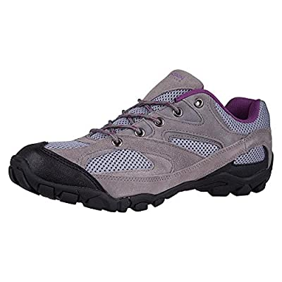 Mountain Warehouse Outdoor Women's Shoes - Suede, Mesh Upper & Lining with 100% Rubber Sole, Cushioned Footbed - Great everyday essential for hiking & walking