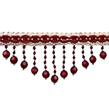 Curtain Fringe Indian Red Trim Upholstery Crafting Supplies Ribbon By The Yard
