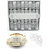 Afternoon Tea 8 Pack Luxury Mini Crackers Red//White Breakfast Saucer Cracker
