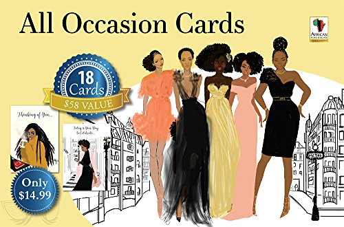 ": African American Expressions - All Occasion Boxed Cards Assortment #11 Sister Friends (Box of 18 cards, 5"" x 7"") AOAB-740"