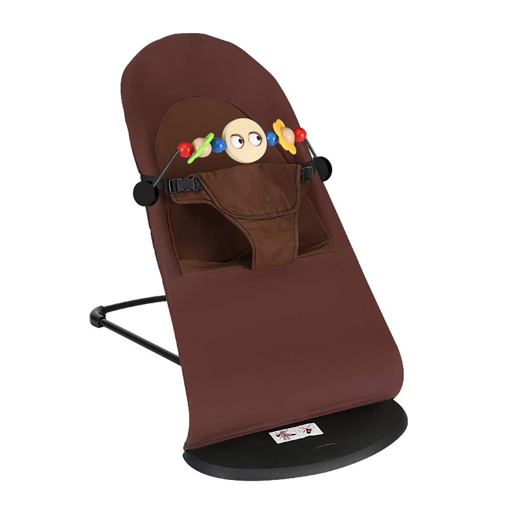 Bouncer Balance Soft, Baby Chair The Children's Bouncing Cradle (2 colors,Cotton) (Color : B)