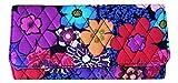 Vera Bradley Trifold Wallet (Floral Fiesta with Black Interior)