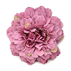 Artificial Flowers Fake Flower Heads in Bulk Wholesale for Crafts Silk Marigold Wedding Party Decorative Flower DIY Hat Ornament Simulation Party Festival Home Decor Decorative 10pcs (Rose red) 44