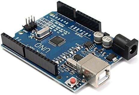 CNC Shield UNO R3 Board 4xA4988 Driver Kit With Heatsink For Arduino Engraver 3D Printer p-711 control mah8700aww wed9200sq1 atmega328p-pu programmer atmel
