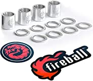 Fireball Dragon Spacers and Washers for Skateboards and Longboards