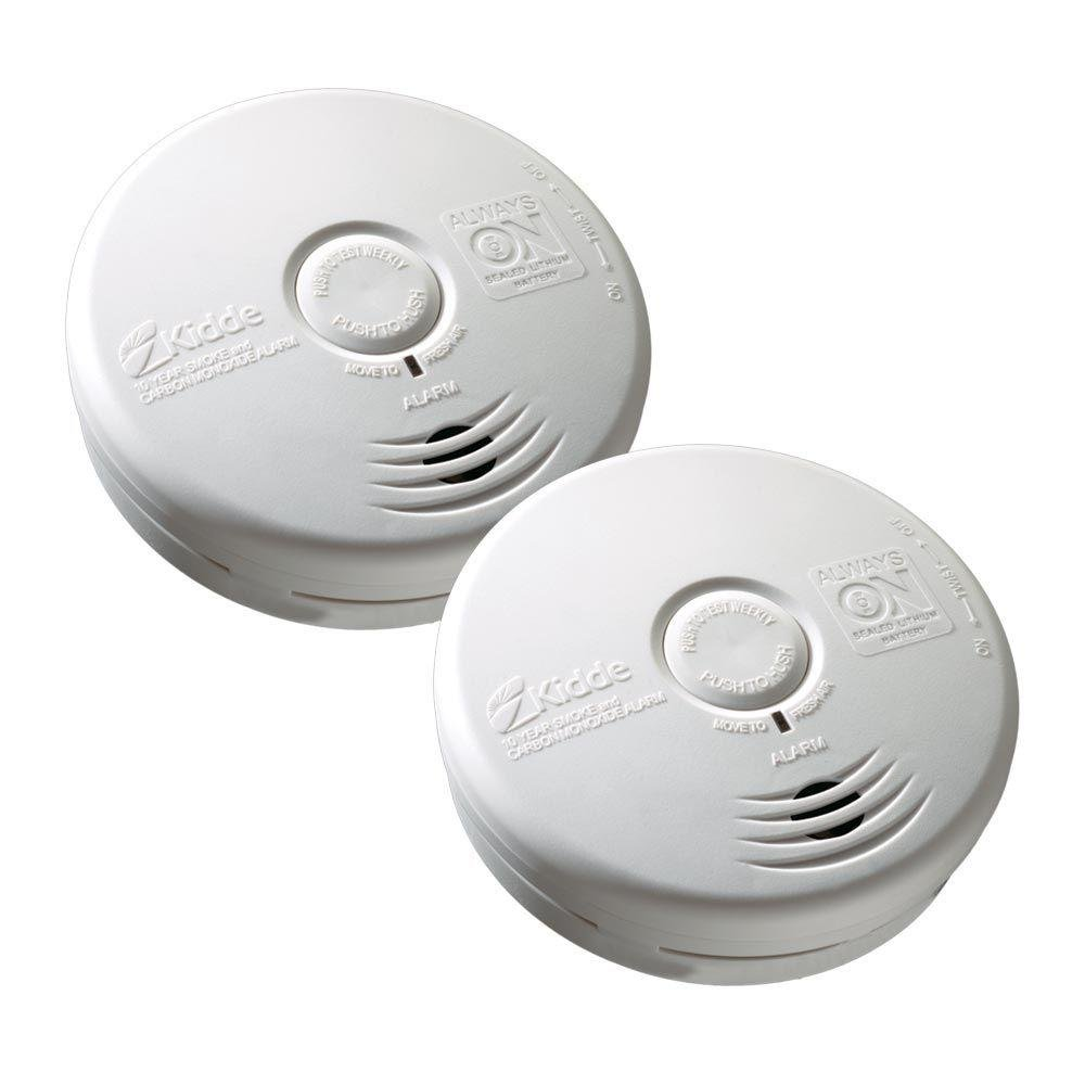 COMBO ALARM VALUE PACK OF 2.Kidde Worry Free Combination Smoke & CO Alarm. 10 years warranty