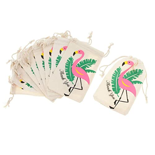 OSAYES 10 Unids Bolsas de Cordón, Flamingo Patrón Doble ...