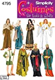 Simplicity Sewing Pattern 4795 Misses, Men and Teen Costumes, A (XS-S-M-L-XL)