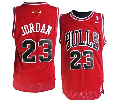 Chicago Bulls, Michael Jordan Nike Jersey Red.. Mens Small