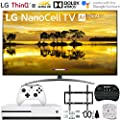 """LG 65SM9000PUA 65"""" 4K HDR Smart LED NanoCell TV w/AI ThinQ (2019) w/Xbox Bundle Includes, Microsoft Xbox One S 1TB, Flat Wall Mount Kit Ultimate Bundle for 45-90 inch TVs and More"""