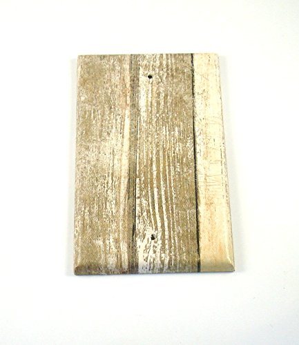 1 Blank Lightswitch Plate Whitewash Barnwood (284B) by Funky Chicken Design
