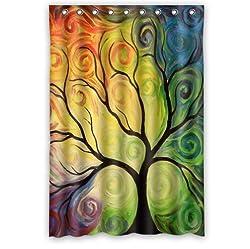 Art tree, tree art, tree of life Bathroom decor 100% Polyester Shower Curtain
