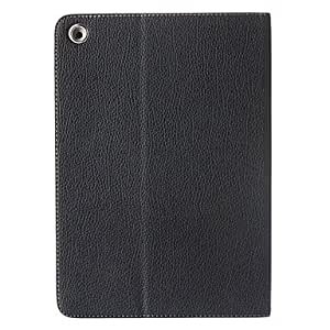 Buy Litchi Folio Leather Case Cover with Stand for iPad Air , Black