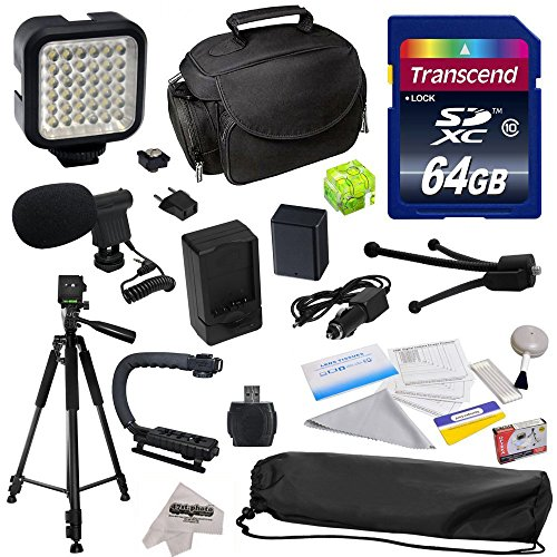 Advanced Accessory Kit for Canon PowerShot G1X G16 G15 SX50HS SX50 HS Digital Camera Includes 64GB High Speed Memory Card + Card Reader + Opteka NB-10L 1800mAh Ultra High Capacity Li-ion Battery Pack + Battery Charger + Deluxe Padded Carrying Case + Professional Photo / Video 60