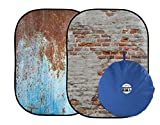 Lastolite LL LB5713 5 x7 Feet Urban Collapsible (1.5x2.1m) Rusty Metal, Plaster Wall