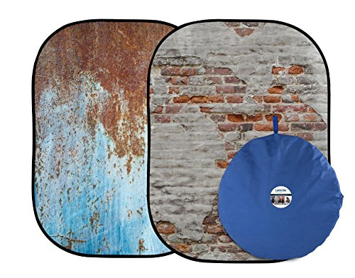Lastolite LL LB5713 5 x7 Feet Urban Collapsible (1.5x2.1m) Rusty Metal, Plaster Wall by Lastolite