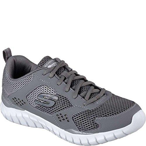 Skechers Revisa El Calzado De Entrenamiento Aukelt Hombres Grey Mesh Athletic Lace Up Charcoal