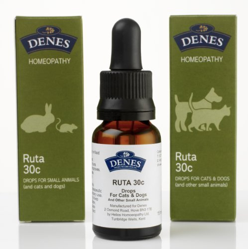 Denes Natural Pet Care Ltd Ruta Grav Homeopathy Remedy 30C - 15Ml - Strains/ Injuries To Bone Including Fractures
