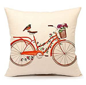Watercolor bird with bicycle vintage home for 70 bike decoration