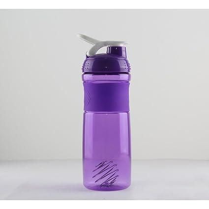 dfly 1 pieza portátil Outdoor Sport Botella de agua de plástico botella de agua té Botella