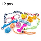 Dog Toys 12 Pack Gift Set, RoyalCare Ball Rope and Chew Clean Teeth Toys for Medium to Small Dog