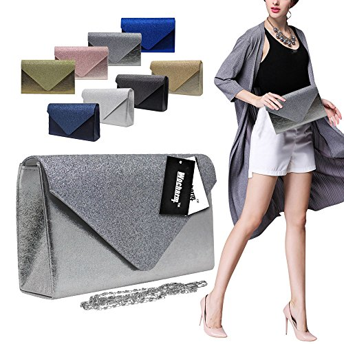 Hand Evening Wocharm Sparkle Blue Royal Clutch Stylish Girly Wedding Handbags Women Bag Bag Party Glitter FqWfCq