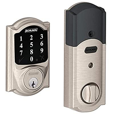(New Model) Schlage Connect Camelot Touchscreen Deadbolt with Z-wave Technology and Extra Key (Satin Nickel)