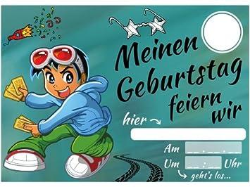 Elauelue Einladungskarten Kindergeburtstag Jungen Coole Einladung