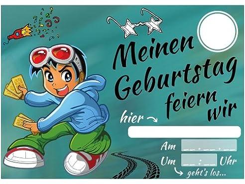 Einladungskarten Kindergeburtstag Jungen Coole Einladung Zum