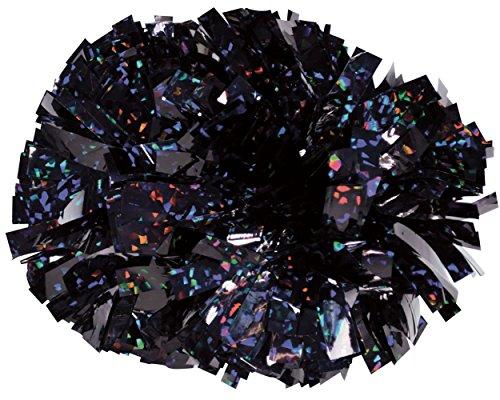 Chassé Girls' Crystal Holographic Pom Crystal Black
