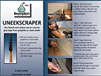 Brampton Uneekscraper Golf Grip Tape Remover - Perfect for Regripping Graphite and Steel Shafts – Fastest Way to Remove Tape