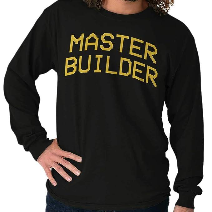 Master Builder Minecraft Videojuego bloques Gamer Xbox One camiseta de manga larga - negro - : Amazon.es: Ropa y accesorios
