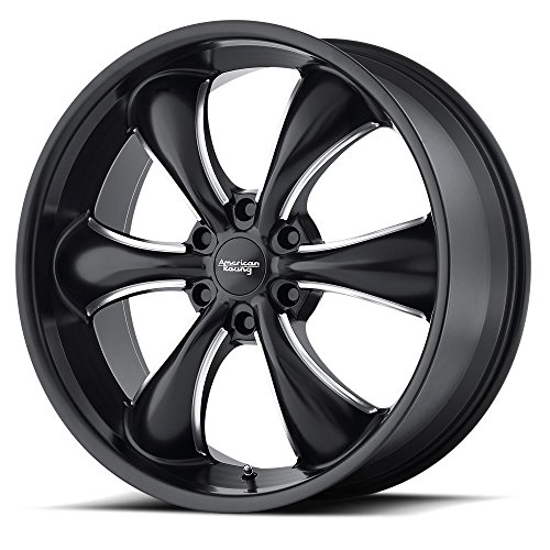 American Racing AR914 Satin Black Wheel with Milled Finish