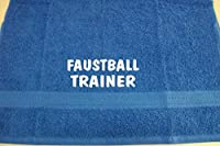 Faustball Trainer; Badetuch Sport, royalblau