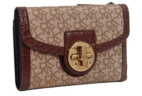DKNY Signature French Wallet Bag - Hemp / Brown