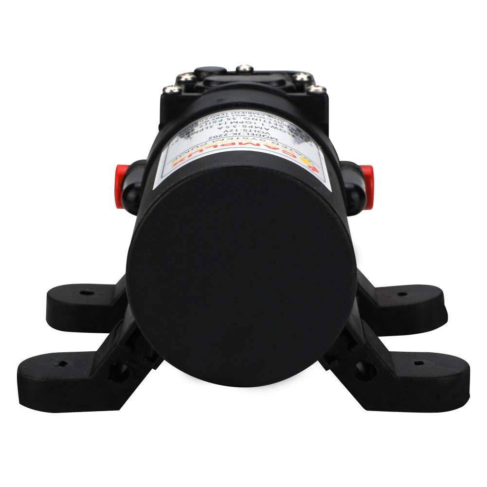 Camplux 12/V 4.3l Pompe /à Eau 35/PSI DC diaphragme pour Caravane RV Marine Bateau de p/êche 4.3lpm
