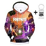 Yeawooh Unisex 3D Print Christmas Hoodie Sweatshirt for Men Women Teen Boys Girls (Send A Necklace) M