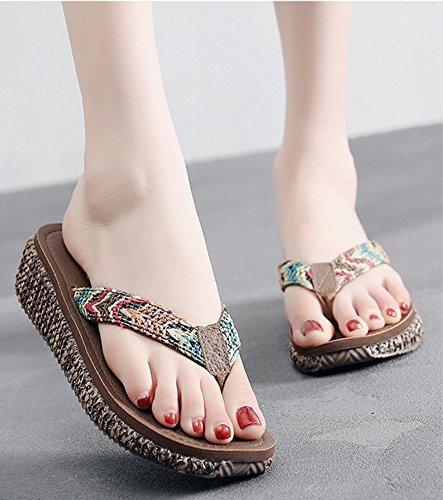Toe Femme Clip Tongs Aisun Brun Plates Mode Entredoigts Chaussures AOxEZwtdq