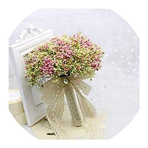 Wedding Bouquet Bride Holding Flowers Romantic Wedding Colorful Gypsophila Bride 'S Bouquet Pink Purple Blue Bridal Bouquets 34
