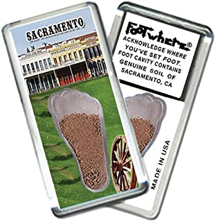 "product image for Sacramento ""FootWhere"" Souvenir Fridge Magnet. Made in USA (SAC205 - Old Sac)"