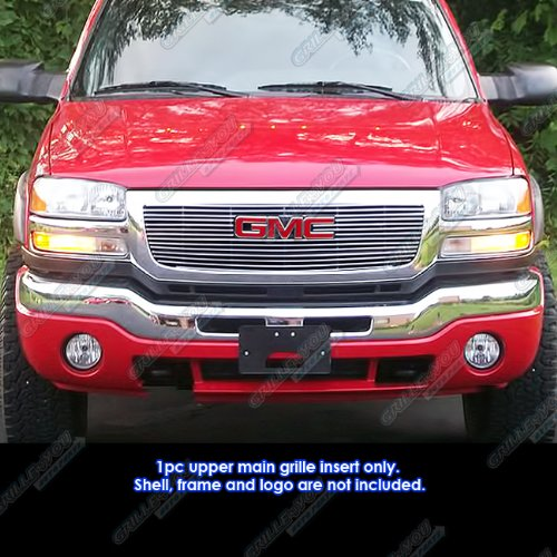 - APS G65771A Polished Aluminum Billet Grille Bolt Over for select GMC Sierra 1500 Models