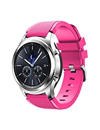 Welcomeuni Fashion 22MM Sports Silicone Bracelet Strap Band For Samsung Gear S3 Classic (PK)