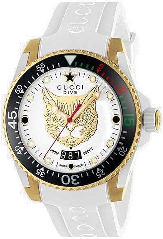 Reloj Analógico GUCCI para Hombre de Cuarzo con Correa en Caucho YA136322