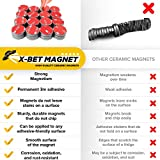 X-bet MAGNET Adhesive Magnets - 1 Inch (25mm) Round Disc Magnets - Strong Sticky Adhesive Backing - Circle Ceramic Magnets Ideal for DIY, Craft, Kitchen - 36 PCs Tiny Self Adhesive Magnets