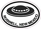 3inx2in Oval UFO Roswell New Mexico Sticker Travel Decal Luggage Stickers