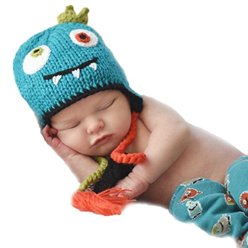 Little Monster Knit Hat - Huggalugs Baby and Toddler Monster Beanie Hat Large