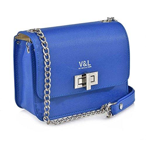 Victorio amp; Bolso Safiano Con Lucchino Bandolera 10320 Mujer De Azul Metalica rraw4x6qd