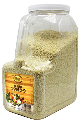 (Gel Spice White Hulled Sesame Seeds 5 Lb - Bulk Size)